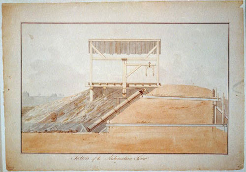 Latrobe's Engineering Drawing for the Waterworks paitning