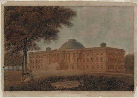 Latrobe's View US Capitol Painting